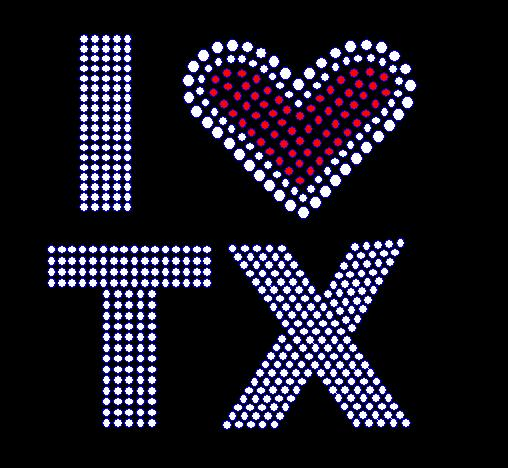 i love texas rhinestones